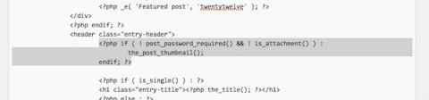 アイキャッチ画像位置変更/content.phpの削除コード