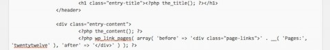 個別ページのアイキャッチ画像位置変更/content-page.phpのコード貼付け位置