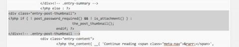 アイキャッチ画像位置変更のレイアウト調整コード変更後