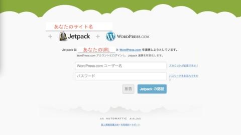 """Jetpack by WordPress 2.9.3""の承認画面"